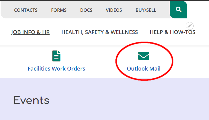 Outlook Link Location in Engage Portal